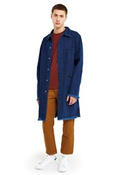 Marques Almeida Denim Mackintosh Jacket Indigo
