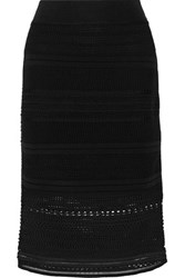 Ohne Titel Stretch Crochet Knit Skirt Black
