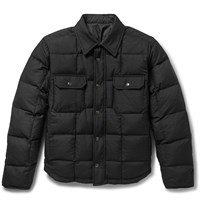 Balenciaga Reversible Quilted Wool Blend Twill And Shell Jacket Black