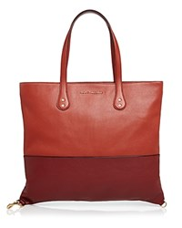 Marc Jacobs Wingman Color Block Leather Tote Copper Gold