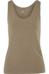 Majestic Stretch Jersey Tank Nude