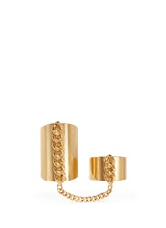 Ela Stone 'Alexander' Curb Chain Link Ring Metallic