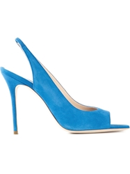 Aperlai Open Toe Stiletto Sandals Blue