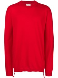 Laneus Loose Fit Sweater Red