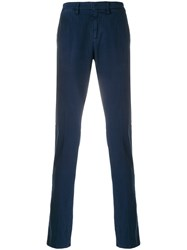 Dondup Slim Fit Casual Trousers Blue