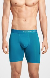 Tommy John 'Cool Cotton' Boxer Briefs Mykonos Blue