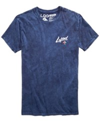 Lrg Men's Logo Print T Shirt Navy Wash