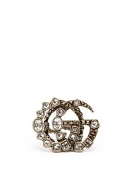 Gucci Gg Crystal Embellished Ring Crystal