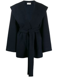 The Row Belted Wrap Coat Blue