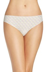 Calvin Klein Women's 'Invisibles' Print Thong Streaked Floral