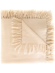 Isabel Marant 'Zila' Tassel Scarf Nude And Neutrals