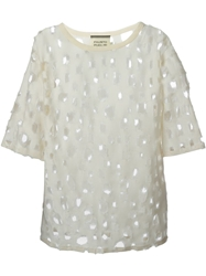 Fausto Puglisi Perforated Blouse