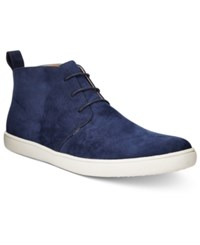 Alfani Men's Kenny Plain Toe Chukka Boots Only At Macy's Men's Shoes Navy