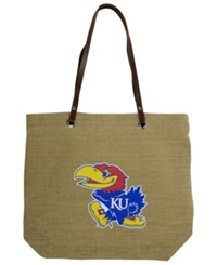 Little Earth Kansas Jayhawks Burlap Tote Brown