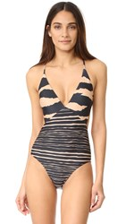 Vix Swimwear Lanai Geometric One Piece Black