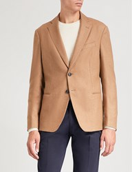 Emporio Armani Wool And Cashmere Blend Jacket Camel
