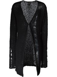 Thom Krom Distressed Knit Cardigan Black