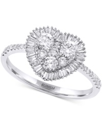 Effy Collection Effy Diamond Heart Ring 3 4 Ct. T.W. In 14K White Gold