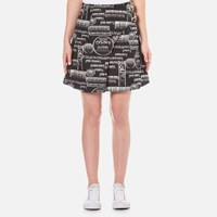 Kenzo Women's Snake Flyer Jacquard Mini Skirt Black
