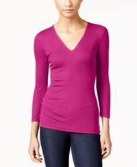 Inc International Concepts Ribbed Top Only At Macy's Magenta Flame