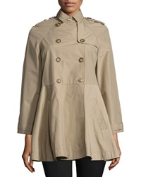 Red Valentino Double Breasted A Line Trench Coat Duna Women's