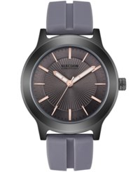 Kenneth Cole Reaction Gray Silicone Strap Watch 46Mm Grey