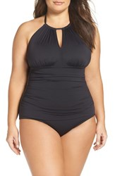 Tommy Bahama Plus Size Women's Pearl Solids One Piece Swimsuit