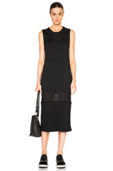 Maison Martin Margiela Maison Margiela Ribbed Knit Jersey Dress In Black