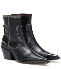 Joseph Leather Ankle Boots Black