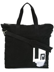Rick Owens Drkshdw Patch Detailed Tote Black
