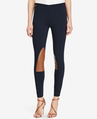 Polo Ralph Lauren Leather Patch Leggings Aviator Navy