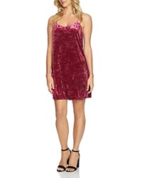 Cynthia Steffe Cece By Mia Crushed Velvet Slip Dress Grand Ruby