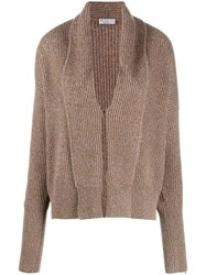 Brunello Cucinelli Sparkle Cardigan Brown