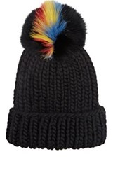 Eugenia Kim Women's Pom Pom Knit Hat Black