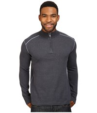 Ecoths Noah Zip Neck Sweater Ombre Blue Flintstone Men's Long Sleeve Pullover Black