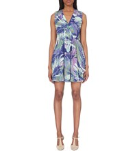 Reiss Carmen Chiffon Dress Multi Blue