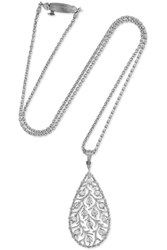 Buccellati Ramage 18 Karat White Gold Diamond Necklace One Size Gbp