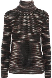 Missoni Cashmere Blend Turtleneck Sweater Brown
