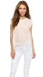 Rag And Bone Daria Tee Crystal Rose