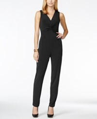 Ny Collection Petite Twist Knot Jumpsuit