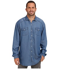 Tommy Bahama Big Tall Empire Indigo Long Sleeve Shirt Indigo Men's Clothing Blue