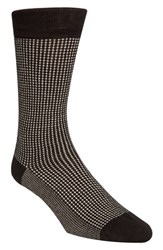 Cole Haan Check Socks Black