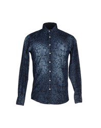 Hamaki Ho Denim Denim Shirts Men Dark Blue