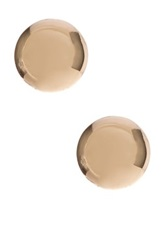 14K Yellow Gold 4Mm Ball Stud Earrings Metallic
