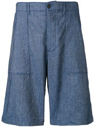 Universal Works Fatique Shorts Blue