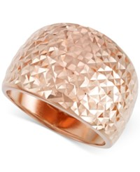 Macy's Textured Wide Ring In 14K Rose Gold