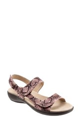 Trotters Women's 'Kip' Sandal Pink Print Leather