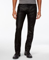 Inc International Concepts Men's Slim Fit Black Metallic Jeans Only At Macy's Deep Black
