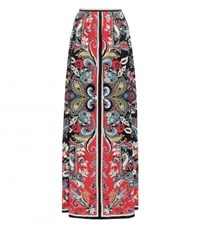 Etro Printed Silk Maxi Skirt Multicoloured