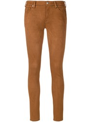 7 For All Mankind The Skinny Trousers Women Polyester Spandex Elastane 26 Brown
